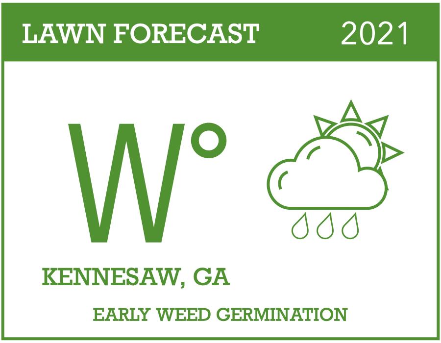 2021 weed forecast Kennesaw GA