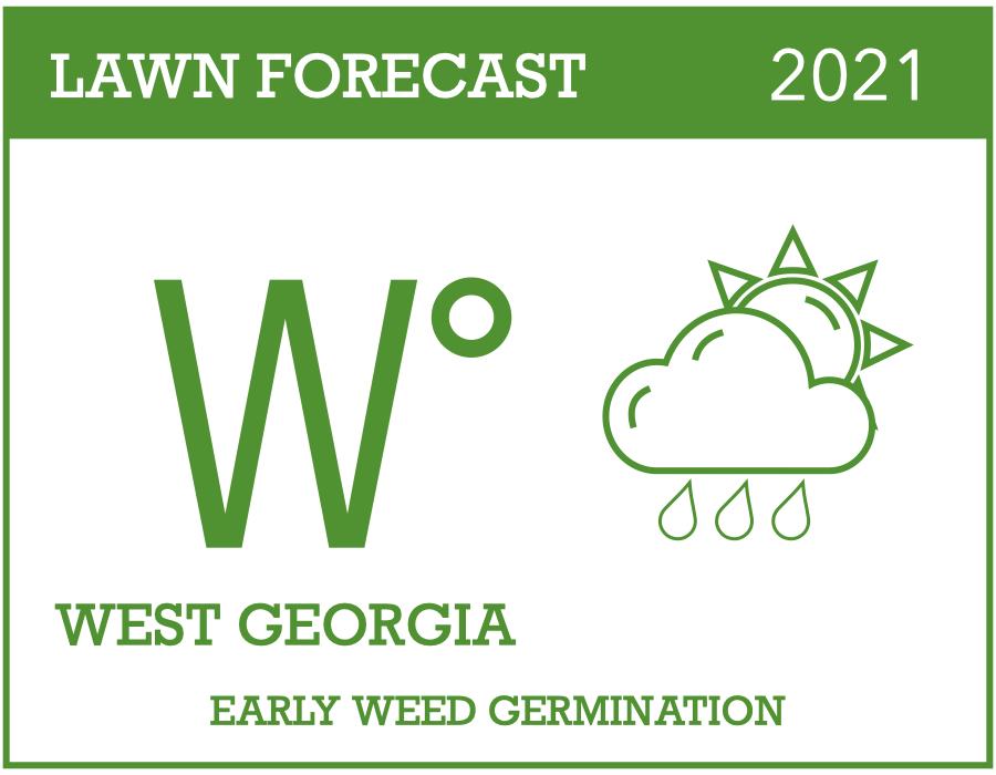 2021 weed forecast West GA